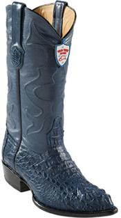 West Blue Jean J-Toe caiman ~ World Best Alligator ~ Gator Skin Hornback Cowboy Boots