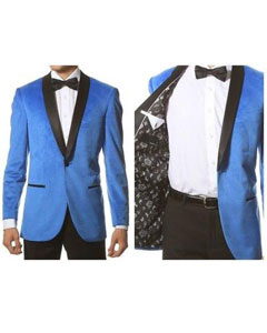 1 Button Velvet ~ Velour Tuxedo With Black Trim Shawl Collar Dinner Jacket Blazer Sport Coat Turquoise