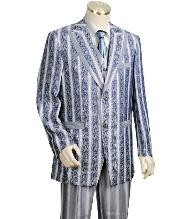 Two Buttons Style comes in Blue Leisure Casual Suit For Sale