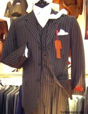 Bold Pinstripe Vested three piece 1920s 30s Fashion Look 3 ~
