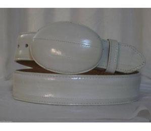 Authentic Bone Eel Skin Western Cowboy Belt