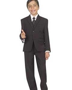 Black Tazio 2 Welt Pockets 5 piece Suit