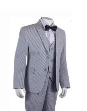 Suits Black Stripe ~ Pinstripe Boys ~ Children ~ Kids Suit