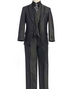 Boys Kids Sizes Tuxedo Suit Black Suit With Pant