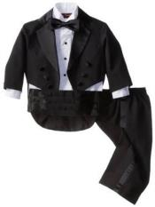 Boys Notch Lapel Black Kids Sizes Tuxedo Suit