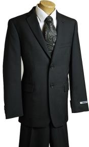 Black Pin 2 Button wool feel poly ~rayon Designer Suit