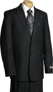 Black 2 Button Italian Design Suit