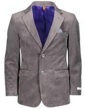 ~ Children ~ Kids ~ Children Velvet ~ Velour Charcoal Blazers Sport Coat Jacket