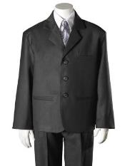 Boys Dark Grey HULight Kids Sizes Blue 5 Piece Suit Perfect for