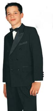double breasted tuxedo suit Black/White