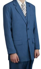 Boys Kids Sizes Childress Dress Suits Teal Indigo ~ Bright Blue