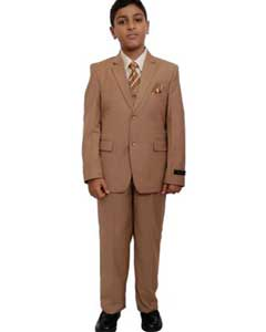 Five Piece Suit Set Camel ~ Khaki
