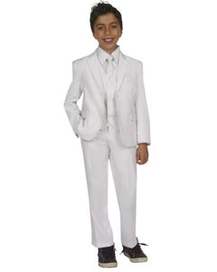 Five Piece Kids Sizes Suit With VestShirt And Tie