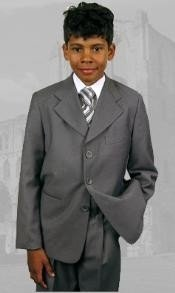 Gray Boys Dress Suit Hand Made