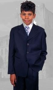 B100 Dark Navy Boys Dress Suit Hand Made Perfect for toddler