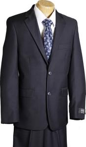 Navy 2 Button Designer Suit