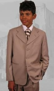 ~ Beige Boys Dress Suit Hand Made Perfect for toddler Suit