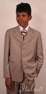 Mens Tan ~ Beige wool Suit Prefect wedding attire