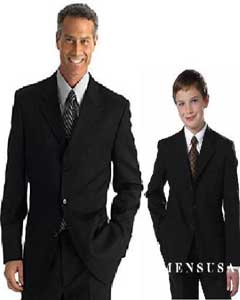 Buttons Notch lapels WOOL SUIT ~ 1 Men + 1 Boy