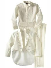 Boys Notch Lapel Off White Kids Sizes Tuxedo Suit Perfect for