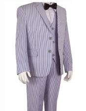 Blue Suits Stripe ~ Pinstripe Boys ~ Children ~ Kids Suit