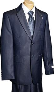 Button Navy Tone/Tone Boy Designer Suit