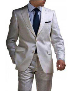 2 Button Tapered cut Half Lined Linen suit