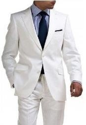 Mens & Boys Sizes Light Weight 2 Button Linen Suit - All