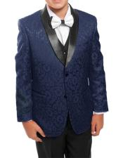 ~ Children ~ Boys ~ Toddler Kids Sizes Tuxedo Vested Suit