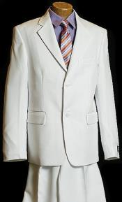 White 2 Button Kids Sizes Designer Suit