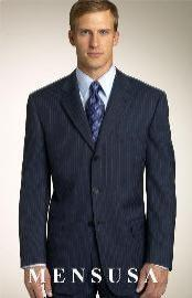 Brand New Navy Pinstripe