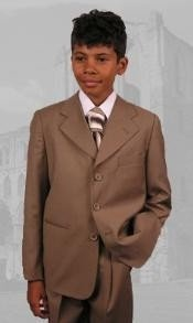 B100 Camel ~ Boys Dress Suit Hand Made Perfect for toddler