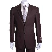 Mens Brown 2-button Suit