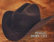 Cowboy Western Hat 4X Felt Hats Brown