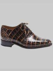Brand Fernan Style Brown / Beige Genuine World Best Alligator ~