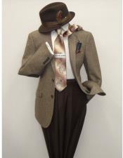 Mens US Polo Assn Salt and Pepper Wool Blend Brown/Beige Sportcoat Blazer