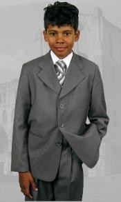 Gray Boys Dress Suit