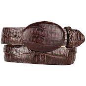 Brown Caiman Belly Skin Western Style Belt