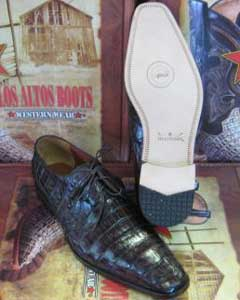Gator Skin Belly Dress Shoe ~ Mens Genuine Authentic Brown caiman ~