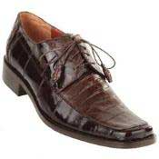 Caiman Belly Split Toe Derby Shoes