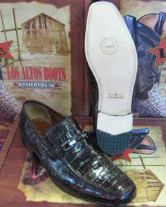 Stylish Dress Loafer Genuine Brown caiman ~ World Best Alligator ~