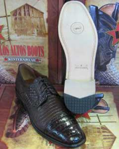 Mens Brown caiman ~