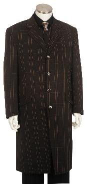 Fashion Zoot Suit Dakr Brown Pinstripe ~ Stripe