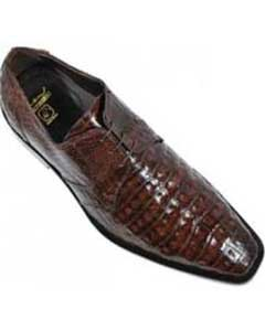 Brown Genuine All-Over Crocodile
