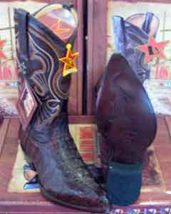 Altos Brown Genuine Crocodile ~ World Best Alligator ~ Gator Skin Tail Western Cowboy Boot