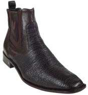 Short Boots Mens Brown Genuine Shark Dressy Boot Ankle Dress Style