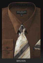 Dress Shirt - PREMIUM TIE - Brown
