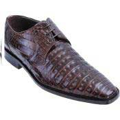 Full Gator Belly Dress Shoe – Brown
