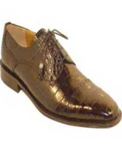 Genuine Alligator Shoes Chocolate