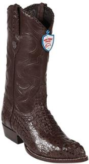 West Brown J-Toe caiman ~ World Best Alligator ~ Gator Skin Hornback Cowboy Boots